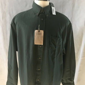 Roundtree & Yorke Long Sleeve Green Flannel XL